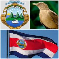 Bandera de Costa Rica, Ave nacional de Costa Rica y Escudo.