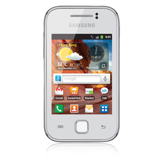 samsung galaxy y touch and type specifications