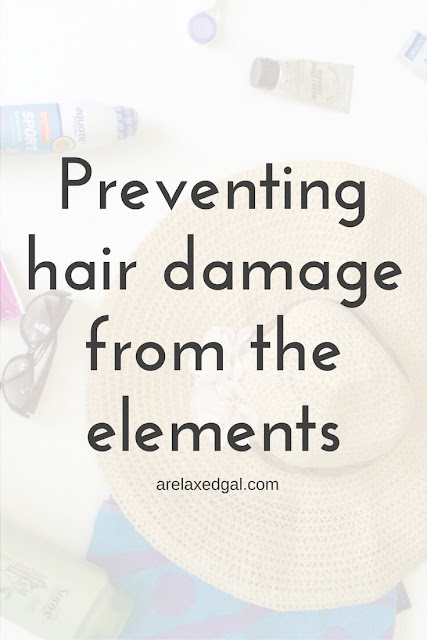 Elements like the sun and wind can hinder a healthy hair journey by causing hair damage. See what can be done to prevent that type of damage. | arelaxedgal.com