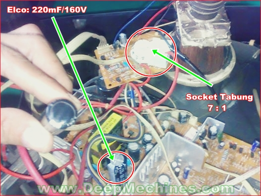 Kerusakan Mesin TV WCOM - Soket Tabung (Layar Buram/Kabur)
