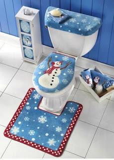 kit de decoración navideña para el baño