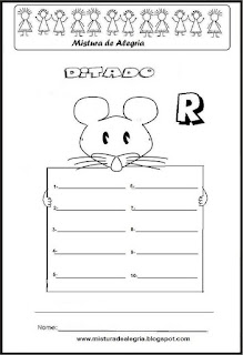 Treino ortográfico letra R de rato