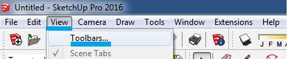 Cara Menampilkan Toolbar di Sketchup