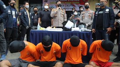 Pencuri Sepeda Motor di Kontrakan Kadu Sabrang Empat Pelaku di Ringkus Unit Reskrim Polsek Cikupa