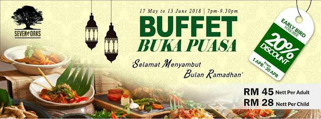 Senarai Buffet Ramadhan 2018 sekitar  Johor Bahru