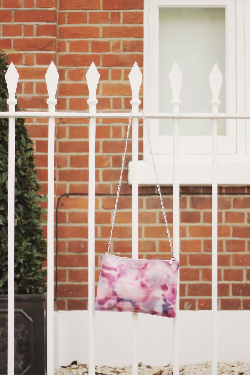 whistles clutch bag pink blue