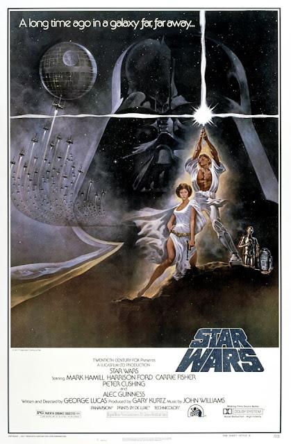 """Lucasfilm: o poster oficial de """"Star Wars Episode IV: A New Hope"""" lançado em 1977. (Texto publicado no Facebook em 25 de outubro de 2012)."""