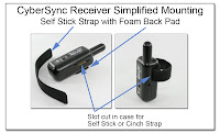 PJ1098: CyberSync Receiver Simplified Mounting - Self Stick Strap with Foam Back Pad