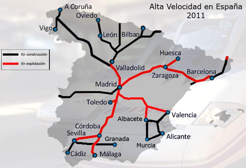 Red Ave España Mapa.Movilidad Red De Alta Velocidad Ferroviaria