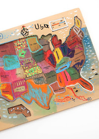 kids map art- getting creative with kids with art