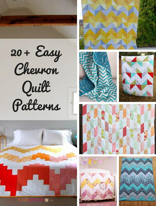 20+ Easy Chevron Quilt Patterns by FaveQuilts