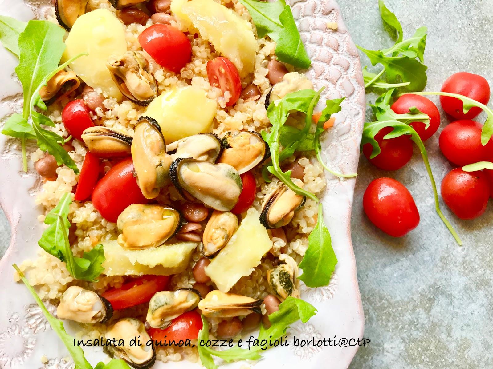 Insalata di quinoa, cozze e fagioli borlotti alesssandra ruggeri