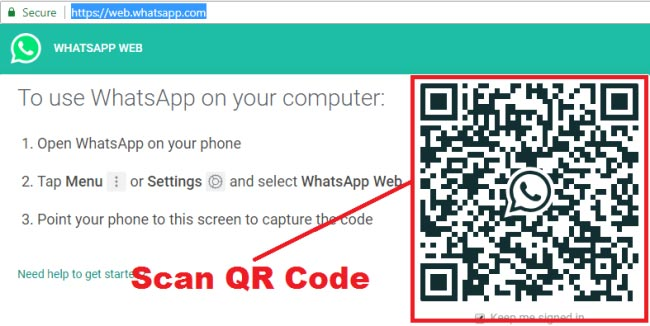 how to use whatsapp on pc with qr code