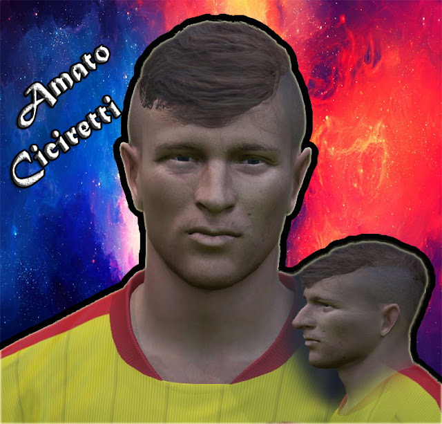 PES 2017 Amato Ciciretti ( Benevento Serie B ) Face by Prince Hamiz