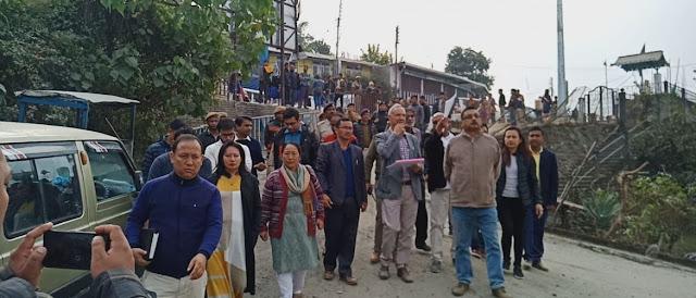 Binay Tamang visits Kalimpong new motor stand