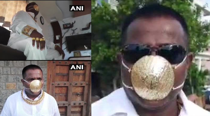 Man with a Mask made of Gold worth Rs 2.89 lakh