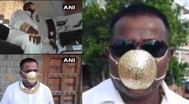 Man Made a Mask of Gold; Worth Rs 2.89 Lakhs, Goes Viral on Social Media