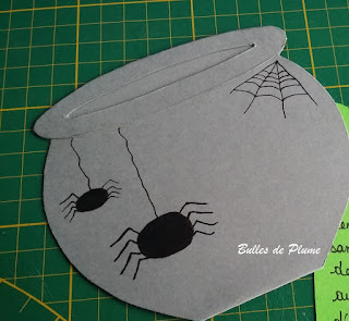 Bulles de Plume - Tuto carte Invitation anniversaire de sorcières/ le chaudron