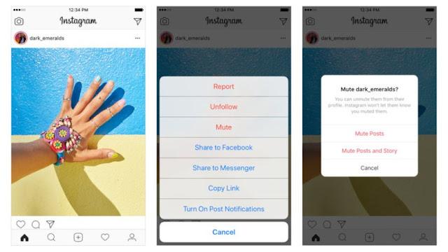 sigue estos pasos para silenciar una cuenta de instagram
