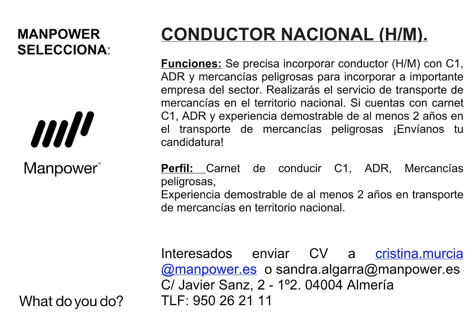 Ofertas de Empleo en España: Conductor Nacional C1, ADR y ... - photo#16