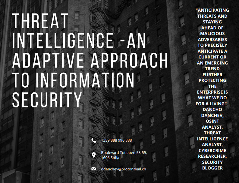 Featured Threat Intelligence Consultancy