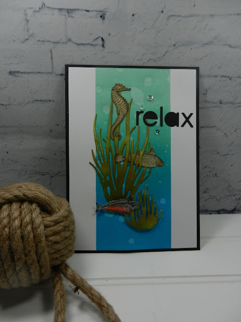 Swimming in the Ocean Greeting card