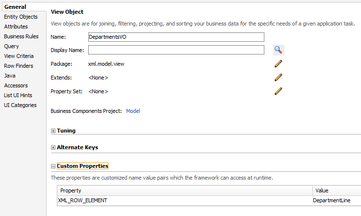 Export ViewObject dataset to XML, Generate customized XML
