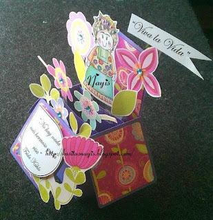 tarjeta caja de frida calo tehuana