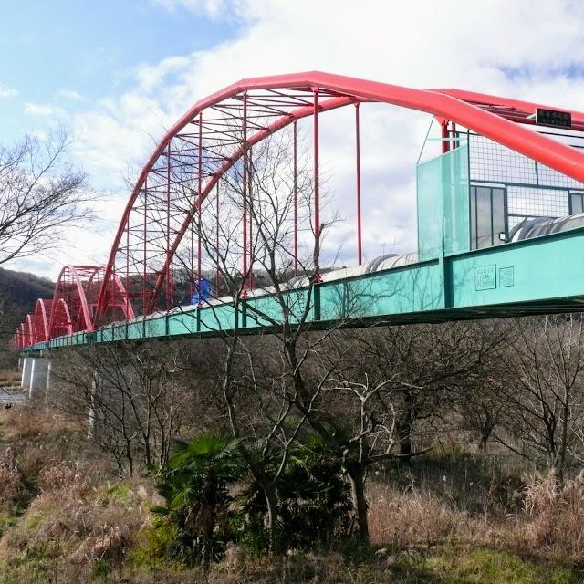 多摩川サイクリングロード 水管橋