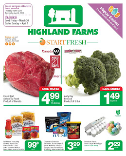 Highland Farms Canada Flyer March 22 – April 4, 2018