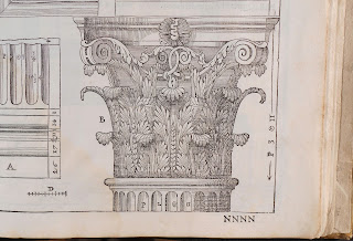 An illustration of the detail at the top of a column.