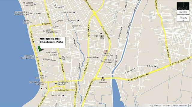 Location Map of Miniapolis Kuta Bali for Family traveler,Miniapolis Kuta Bali Location Map,Miniapolis Kuta Bali Accommodation attractions hotels map