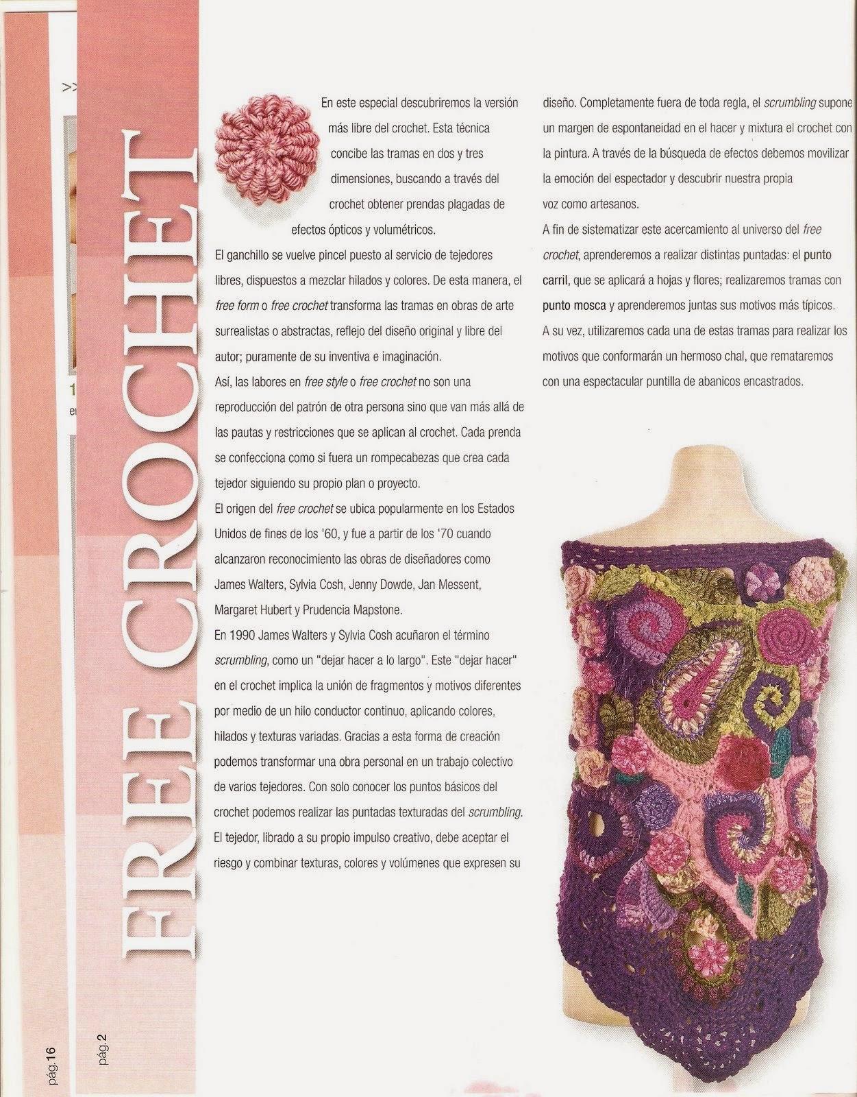 Como hacer un chal en crochet - Revistas de crochet y tejidos gratis
