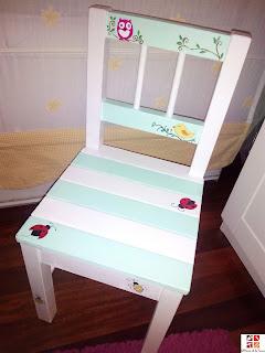 silla tuneada con pintura a la tiza