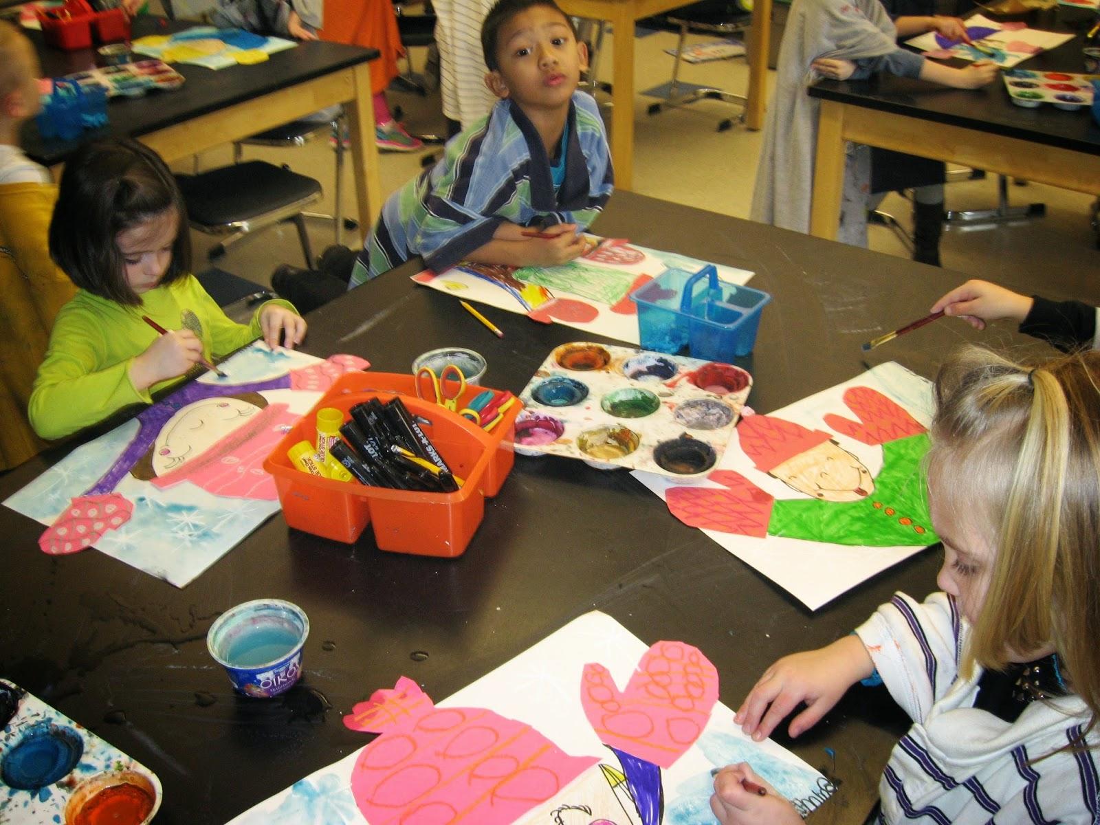 Jamestown Elementary Art Blog Kindergarten Winter Portraits