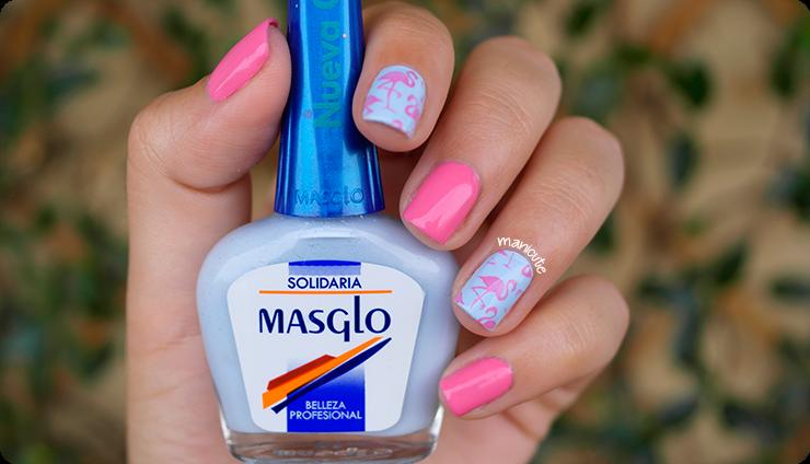 flamingo nails moyou tropical