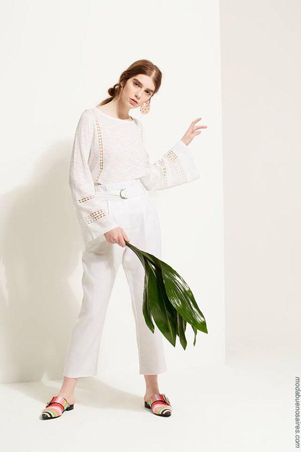 Camisas y túnicas de moda mujer primavera verano 2018 Carmela Achaval.