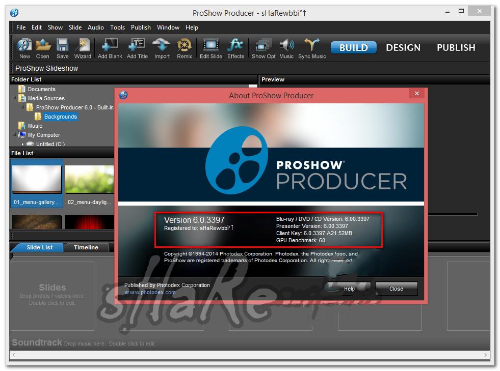 Proshow Producer 6.0.3410 Serial Key