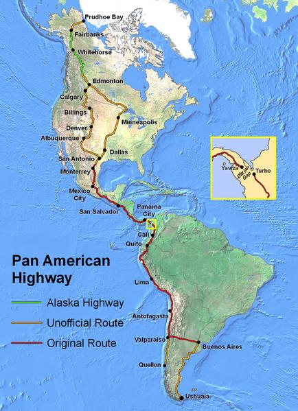 Informationen Panamerica / Panamericana für Selbstfahrer, vom Verschiffen, Grenzübergängen, Stellplätzen und Overland Hotspots