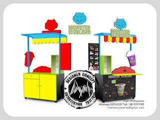 produksi gerobak pop ice blend bandung