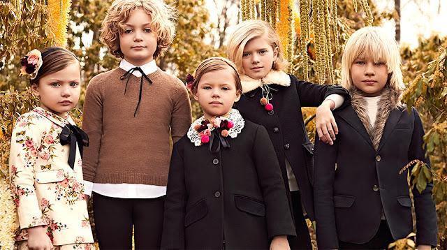 Sacos y trajes de moda infantil invierno 2017. Ropa para niños y niñas moda 2017.