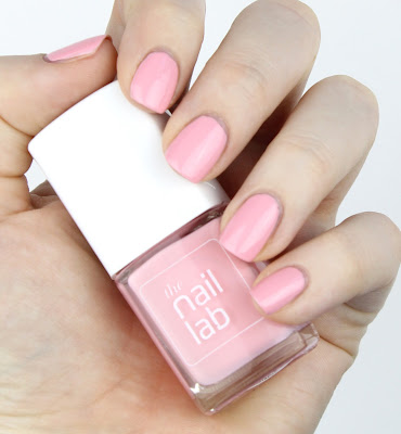 The Nail Lab Polish in Grace pink baby peach light swatch