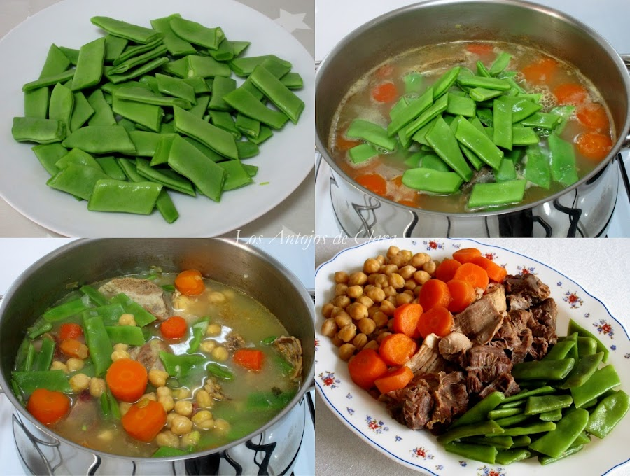 Preparación cocido de garbanzos