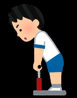 背筋測定のイラスト(男の子)
