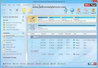 MiniTool Partition Wizard Professional and Server Edition 9.0 Final Including Serials 2015
