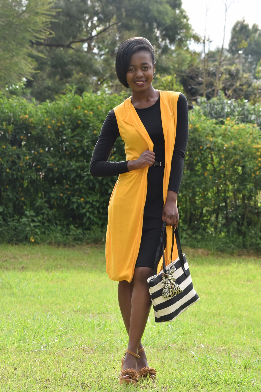 Yellow Sleeveless Duster Cardigan - My Style Situation