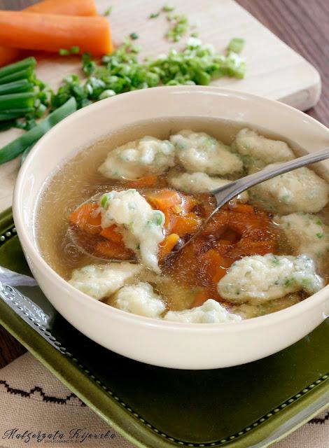 rosół z gęsiny, obiad, niedzielny obiad, zupa, kluski