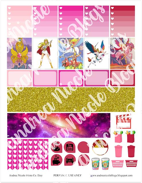 FREE Printable SHE RA Planner Stickers