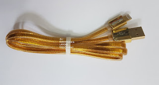 Golden data cable for iphone
