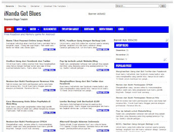 Blogger Template Responsive, SEO Friendly iNandaGotBlues
